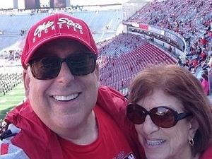 Dr. Stern and his wife at a football game